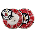 6972 44mm Enamel Yardage Holder